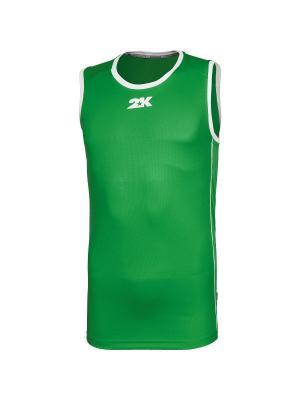 Баскетбольная игровая футболка Classic 2K. Цвет: зеленый, белый