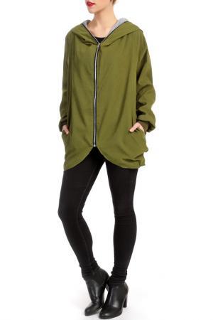 Куртка LESARA. Цвет: зеленый
