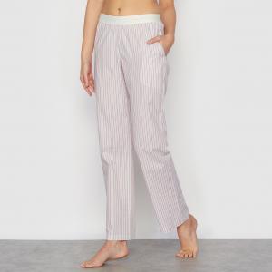 Брюки пижамные в тонкую полоску LOVE JOSEPHINE. Цвет: розовый в полоску
