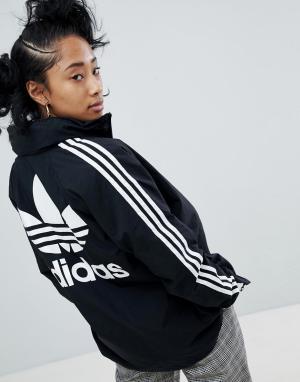 Adidas Originals Черная спортивная куртка с капюшоном adicolor. Цвет: черный
