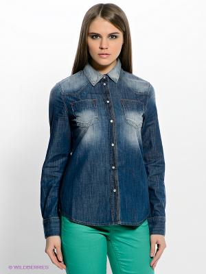 Рубашка H.I.S. Цвет: синий
