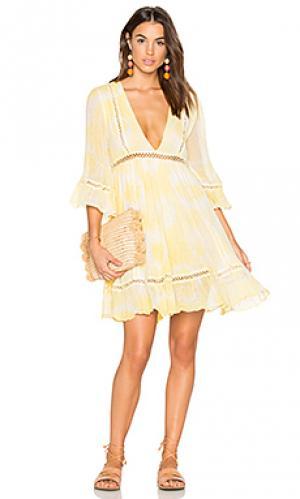 Платье water lily Jens Pirate Booty Jen's. Цвет: желтый