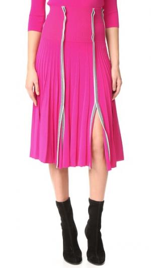 Плиссированная юбка Cedric Charlier. Цвет: фуксия