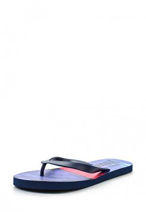 Комплект шорты для плавания и сланцы E-Bound. Цвет: синий