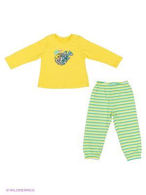 Пижама PELICAN. Цвет: желтый, белый, синий