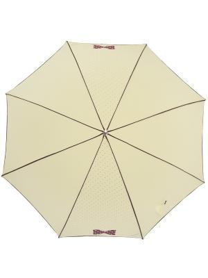 Зонт H.DUE.O. Цвет: бежевый, бордовый