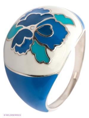 Кольцо SOKOLOV. Цвет: синий, лазурный, серебристый, молочный