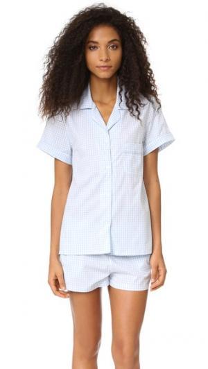 Пижама Belle Three J NYC. Цвет: синяя меланжевая клетка