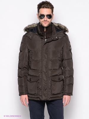 Куртка Forecast. Цвет: коричневый