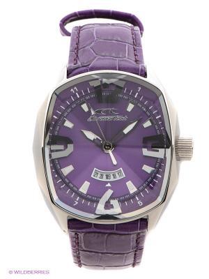 Часы Chronotech. Цвет: фиолетовый, серебристый