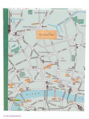 Блокнот Карта Лондона Kawaii Factory. Цвет: зеленый, бежевый