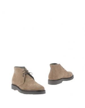 Полусапоги и высокие ботинки BARBATI. Цвет: бежевый