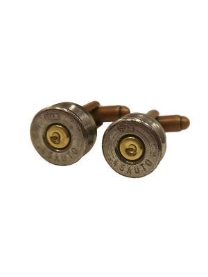 Запонки пуля гильза серебристого цвета Churchill accessories. Цвет: бронзовый