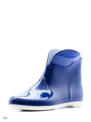 Сапожки из поливинилхлоридной композиции женские. BRIS. Цвет: голубой