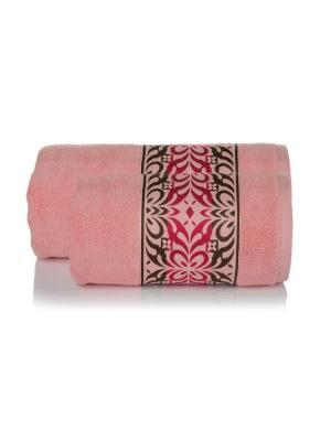 Набор махровых полотенец КРИСТАЛ цв. розовый  50х90+70х140 TOALLA. Цвет: розовый