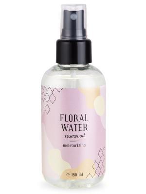 Флоральная вода розового дерева увлажнение кожи 150 мл Huilargan. Цвет: желтый