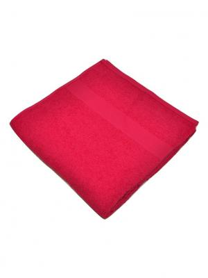 Полотенце махровое Корона. Цвет: малиновый