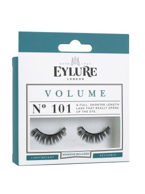 Eylure VOLUME №101 Накладные ресницы объемные. Цвет: черный, серо-коричневый