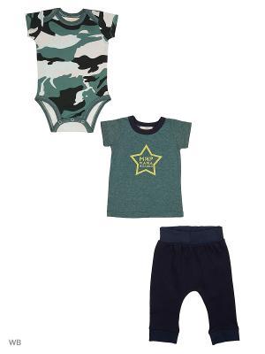 Комплект 3 пр Military Babich Baby. Цвет: черный, хаки, белый, темно-синий, темно-зеленый