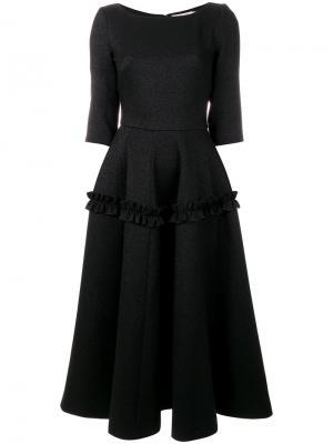 Пышное платье с оборкой Piccione.Piccione. Цвет: чёрный
