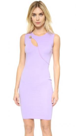 Трикотажное платье Versace. Цвет: светло-сиреневый
