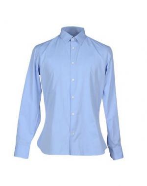 Pубашка GENTRYPORTOFINO. Цвет: небесно-голубой