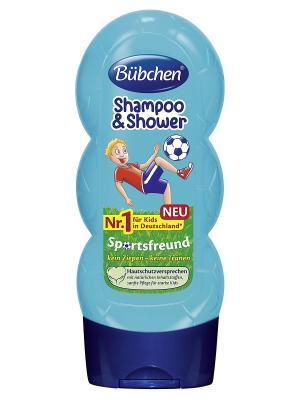 Шампунь для волос и тела  Юный спортсмен, 230 мл. Bubchen. Цвет: голубой