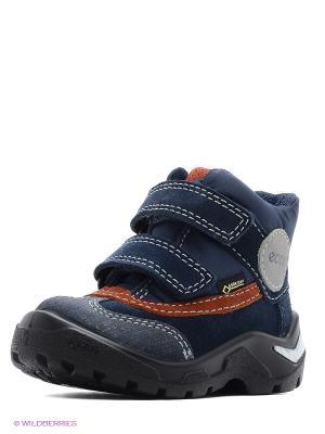 Ботинки ECCO. Цвет: синий, рыжий