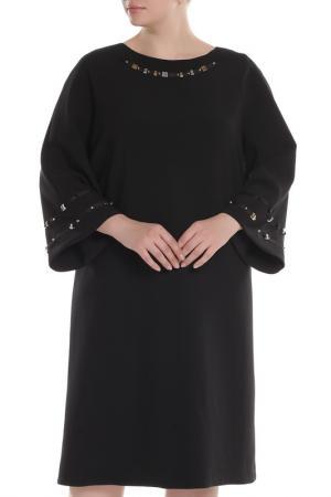 Платье Chiara DEste D'Este. Цвет: черный, стразы