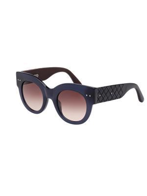 Солнцезащитные очки Bottega Veneta. Цвет: синий