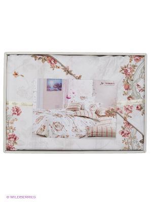 Комплект постельного белья Атриум Sofi de Marko. Цвет: белый, розовый