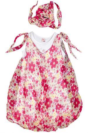 Платье, платок Lilax Baby. Цвет: розовый