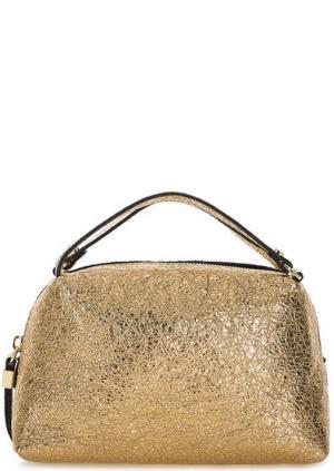 Маленькая кожаная сумка с короткими ручками Gianni Chiarini. Цвет: золотистый
