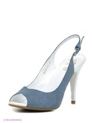 Босоножки Moda Donna. Цвет: голубой, белый