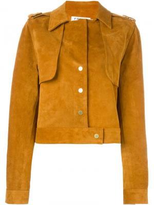Укороченная куртка Frame Denim. Цвет: телесный