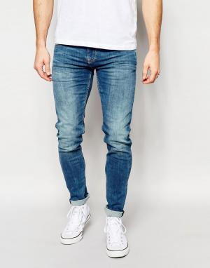 Pepe Heritage Светлые джинсы скинни Jeans Powerflex Finsbury. Цвет: синий