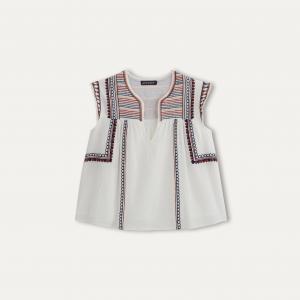 Блузка DAKOTA ANTIK BATIK. Цвет: белый