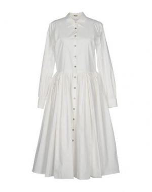 Платье длиной 3/4 JOURDEN. Цвет: белый