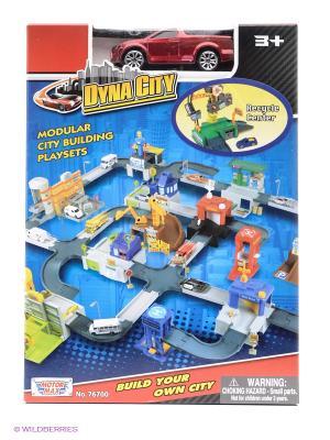 Набор Dyna city Перерабатывающий центр  1к64 Motormax. Цвет: синий