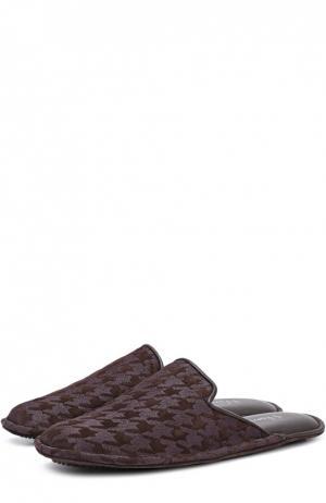 Домашние туфли с узором houndstooth Homers At Home. Цвет: коричневый