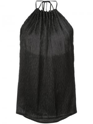 Текстурированный топ с вырезом-петлей халтер Jason Wu. Цвет: чёрный