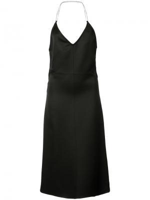 Расклешенное платье с открытой спиной Barbara Casasola. Цвет: чёрный