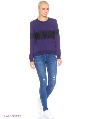 Свитшот D.S. Цвет: фиолетовый