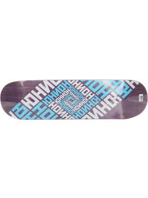 Профессиональный скейтборд Team Violet, размер 8,5x32,2, конкейв Medium Юнион скейтборды. Цвет: черный, белый, фиолетовый