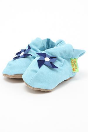 Туфли домашние Funky Feet Fashions™. Цвет: голубой