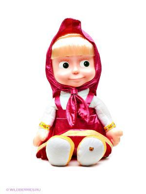 Мягкая игрушка Маша и медведь. Цвет: красный
