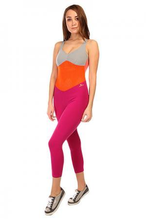 Комбинезон для фитнеса женский  New Zealand Overall Pink/Orange/Grey CajuBrasil. Цвет: фиолетовый,оранжевый,серый