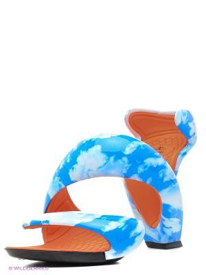 Босоножки JULIAN HAKES. Цвет: голубой