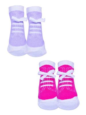 Носки, 2 пары Malerba. Цвет: сиреневый, розовый