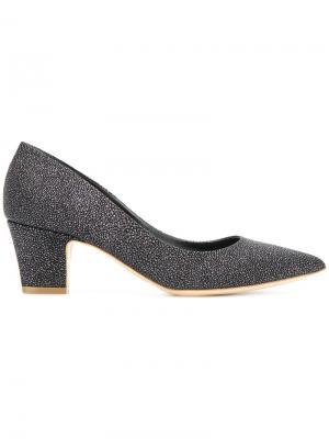 Туфли-лодочки на наборном каблуке Rupert Sanderson. Цвет: чёрный